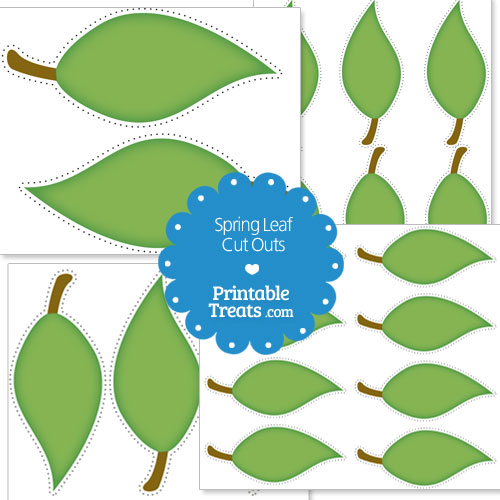 printable spring leaf cut outs