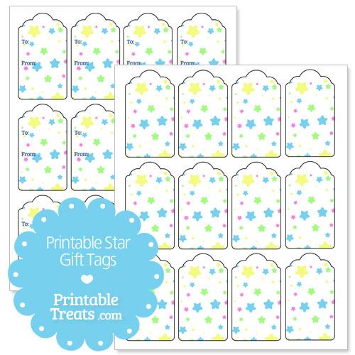 printable star gift tags