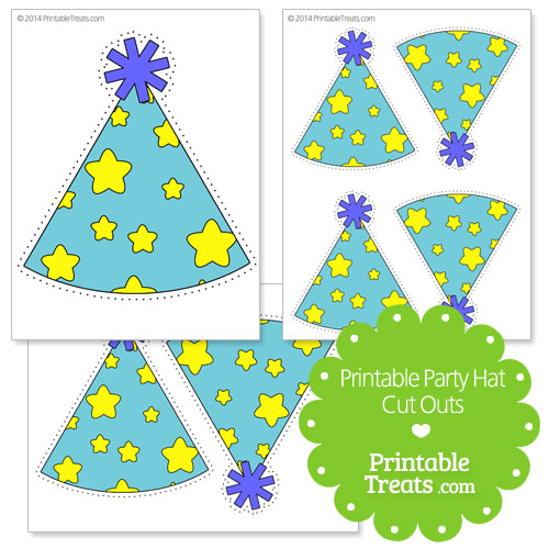 printable star party hat cut outs