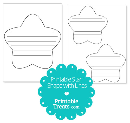 printable star shape with lines