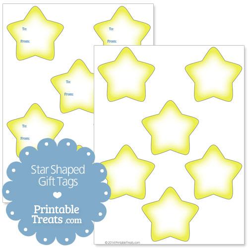 printable star shaped gift tags