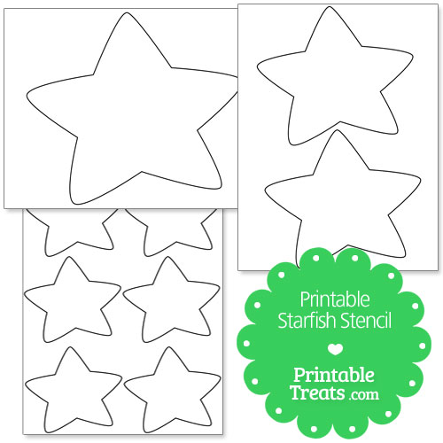 printable starfish stencil