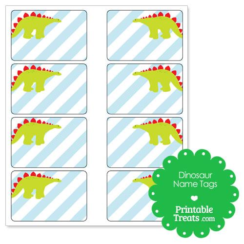 printable Stegosaurus name tags