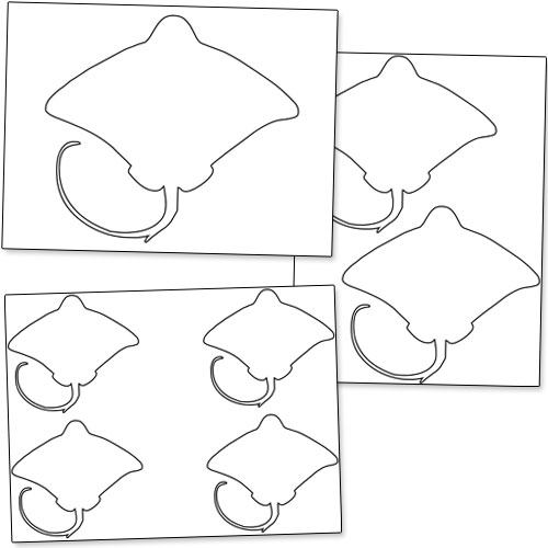printable stingray template