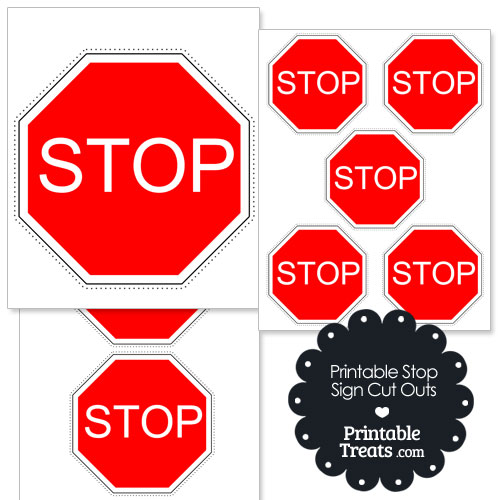 printable stop sign cut out