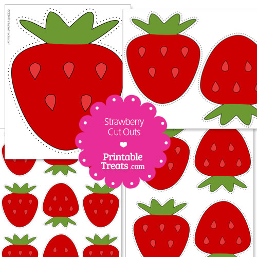 printable strawberry cut outs