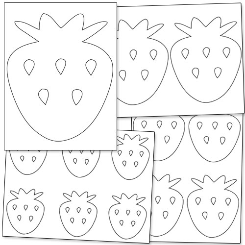 printable strawberry template