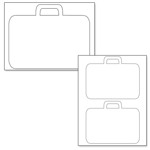 printable suitcase template