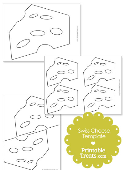 Printable Swiss Cheese Template from PrintableTreats.com