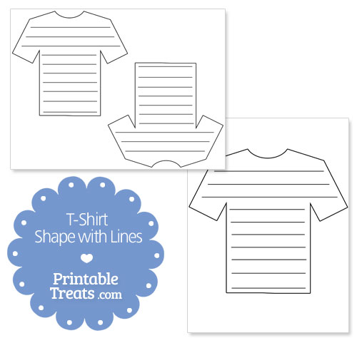 printable t shirt shape with lines