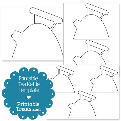 printable tea kettle template