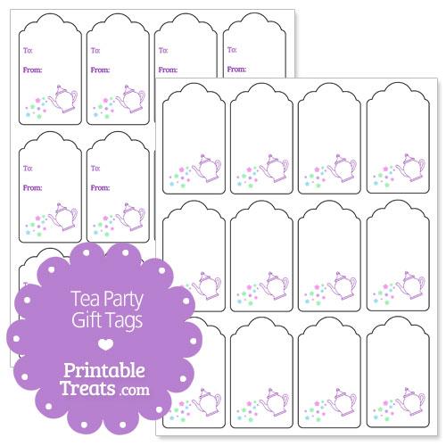 printable tea party gift tags