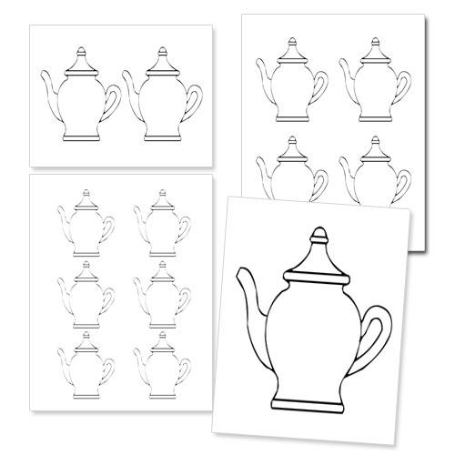 printable teapot shape