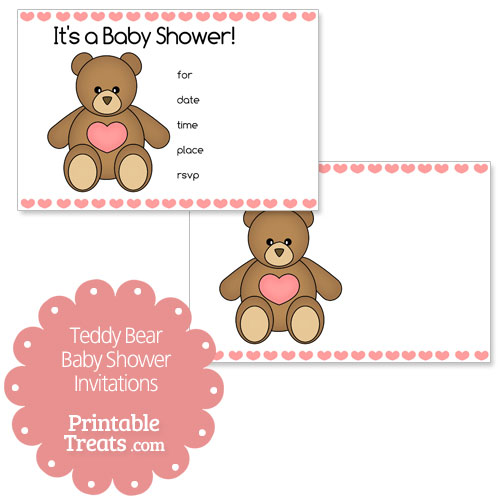 printable teddy bear baby shower invitations