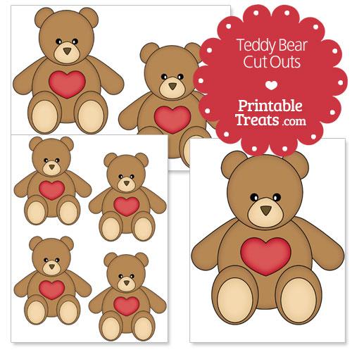 printable teddy bear cut outs