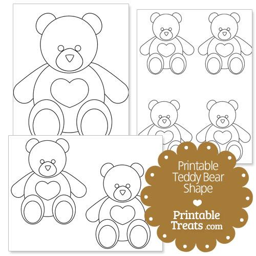 printable teddy bear shape