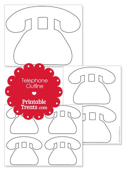 Printable Telephone Shape from PrintableTreats.com