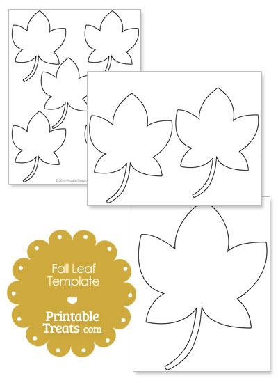 Printable Thanksgiving Fall Leaf Shape from PrintableTreats.com