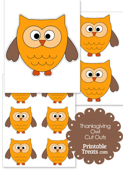 Printable Thanksgiving Owl from PrintableTreats.com