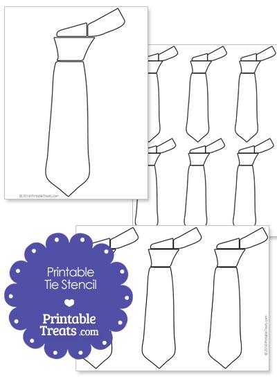 Printable Tie Stencil from PrintableTreats.com