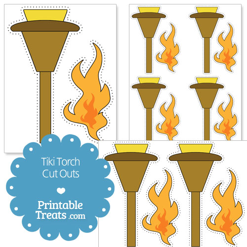 printable tiki torch cut outs