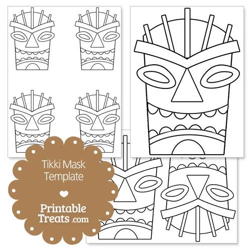 printable tiki mask template