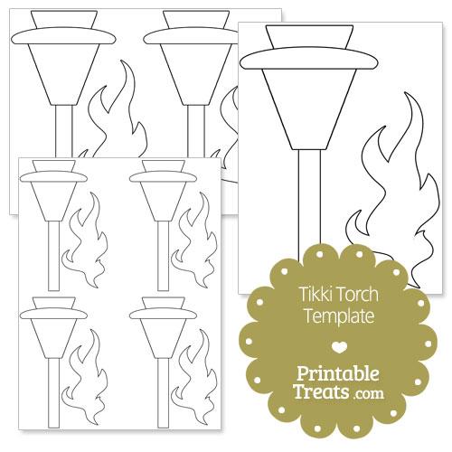printable tiki torch template
