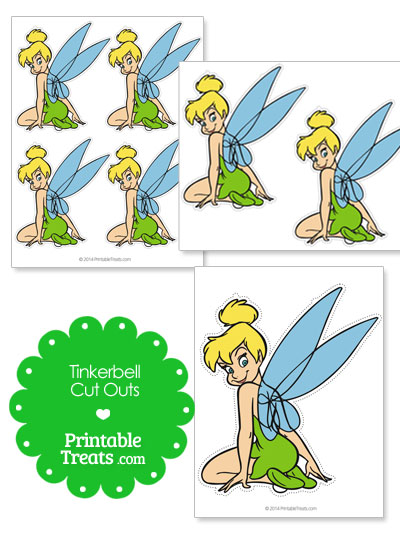 Printable Tinkerbell Cut Outs from PrintableTreats.com