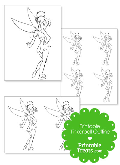 Printable Tinkerbell Outline from PrintableTreats.com