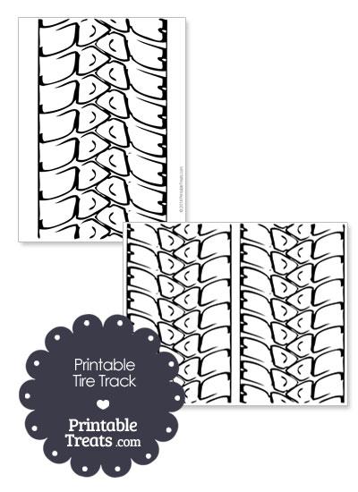 Printable Tire Track from PrintableTreats.com