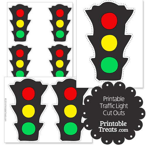 printable traffic light cut outs