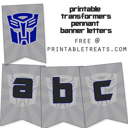 printable transformers birthday banner