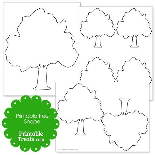 printable tree shape