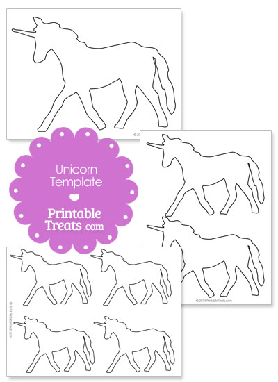 Printable Unicorn Shape Template from PrintableTreats.com