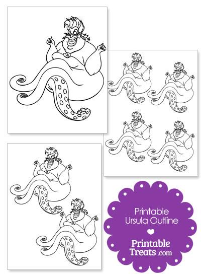 Printable Ursula Outline from PrintableTreats.com
