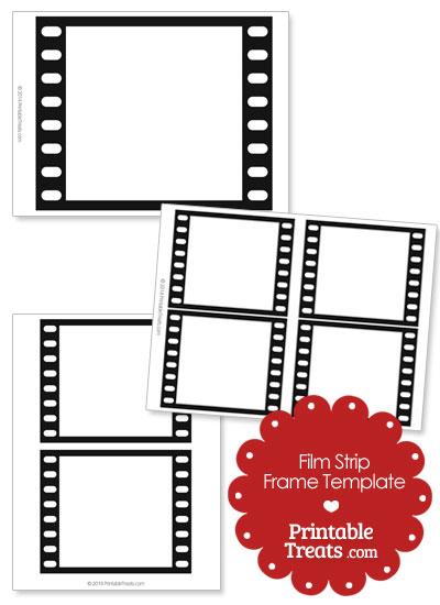 Printable Vertical Filmstrip Frame Templates from PrintableTreats.com