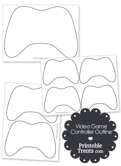 Printable Video Game Controller Outline from PrintableTreats.com