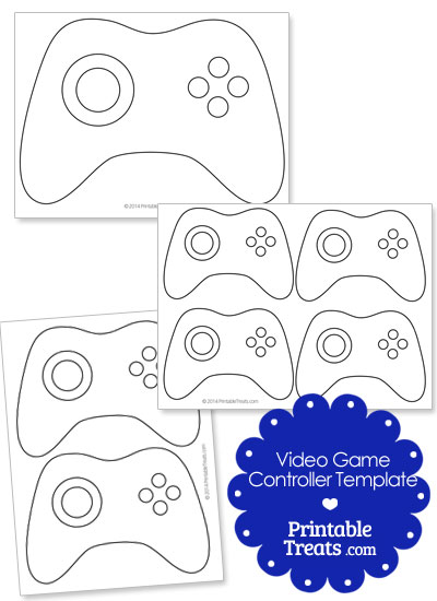 Printable Video Game Controller Template from PrintableTreats.com