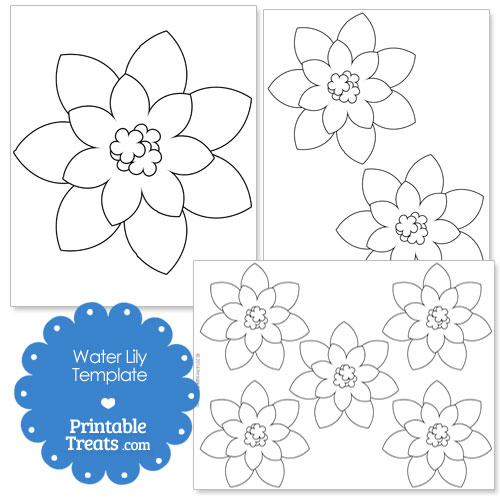 printable water lily template