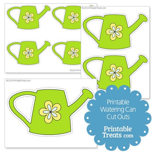 printable watering can cut outs