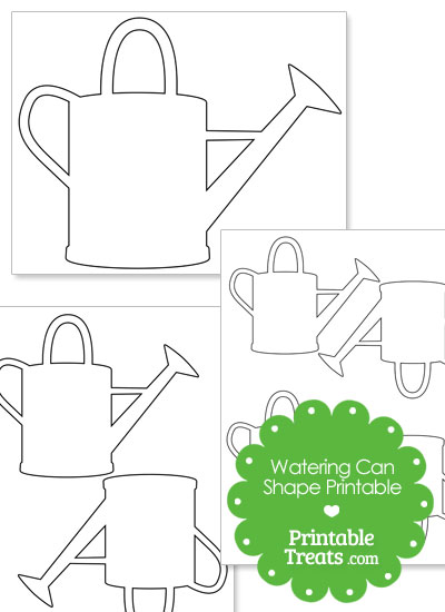 Printable Watering Can Shape from PrintableTreats.com