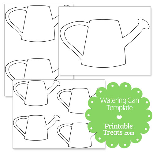printable watering can template