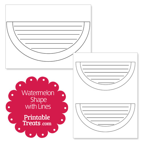 printable watermelon shape with lines