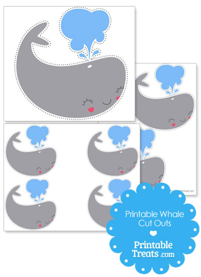 printable whale cut outs