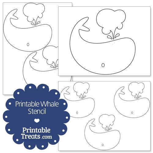 printable whale stencil