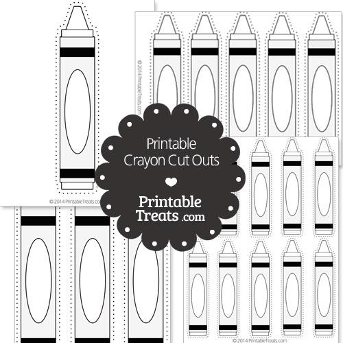printable white crayon cut outs