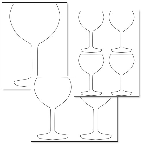 printable wine glass shape