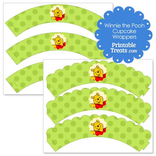 printable Winnie the Pooh cupcake wrappers