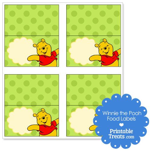printable Winnie the Pooh labels