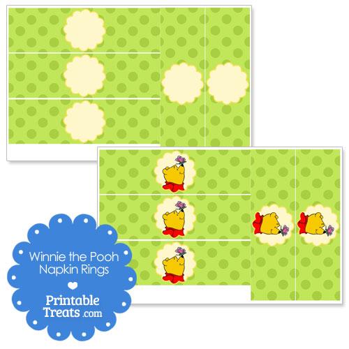 printable Winnie the Pooh napkin rings
